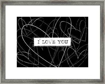 I Love You Word Art Framed Print