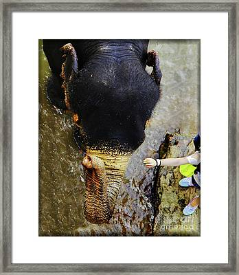 I Love Your Touch... Framed Print