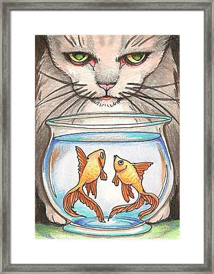 I Loves Fishes Framed Print by Amy S Turner