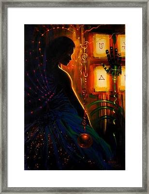 I Marry Your Mind To Lights Window Framed Print by Stephen Lucas
