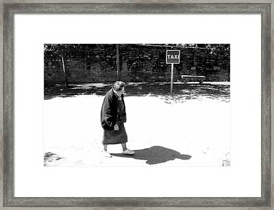 I Might As Well Walk Framed Print by Jez C Self