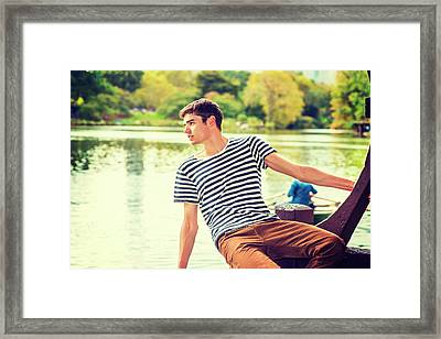 I Missing You And Waiting For You Framed Print