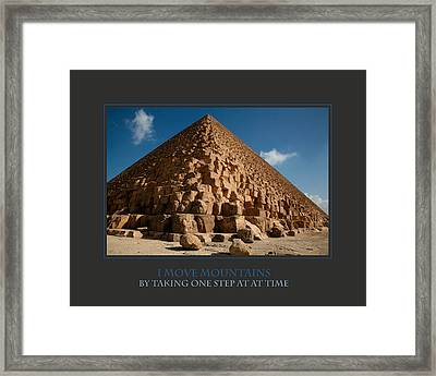 I Move Mountains Framed Print by Donna Corless