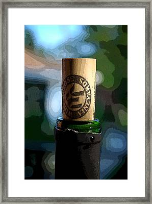 I Must Be Half Corked Framed Print