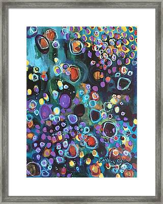 Framed Print featuring the painting I Need An Answer Please by Laurie Maves ART