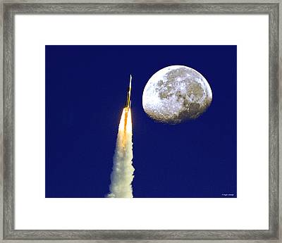 I Need My Space Framed Print by Roger Wedegis