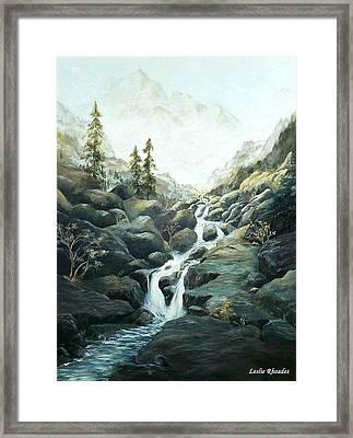 I Nostri Montagna Framed Print by Leslie Rhoades
