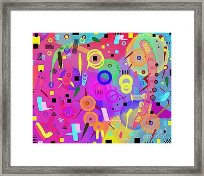 Framed Print featuring the digital art I Once Was Happy by Silvia Ganora
