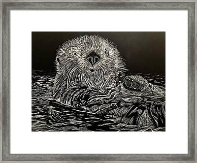 I Otter Be Yours Framed Print