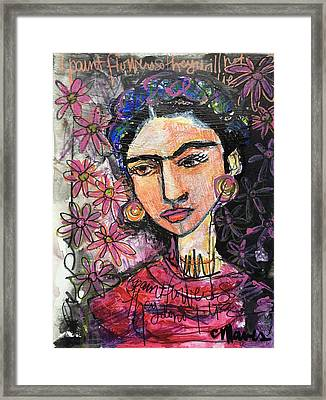 I Paint Flowers So They Will Not Die Framed Print by Laurie Maves ART