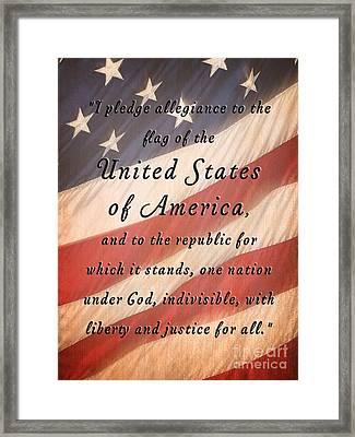 I Pledge Framed Print