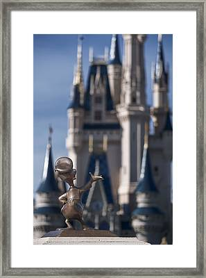 I Present You Cinderella's Castle Framed Print by Eduard Moldoveanu