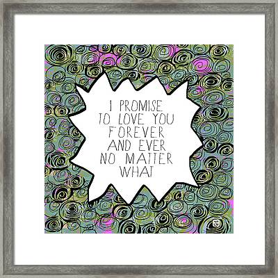Framed Print featuring the painting I Promise by Lisa Weedn