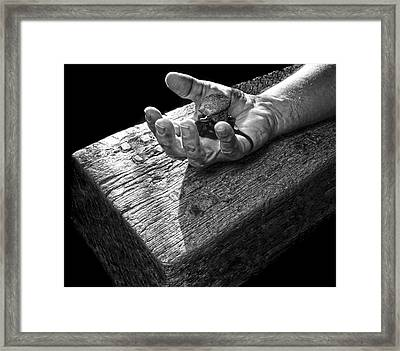 I Reached Out To You Framed Print