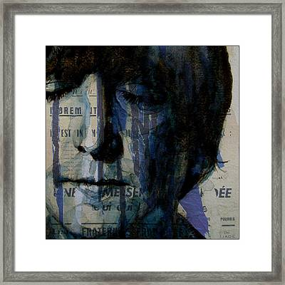 I Read The News Today Oh Boy  Framed Print by Paul Lovering