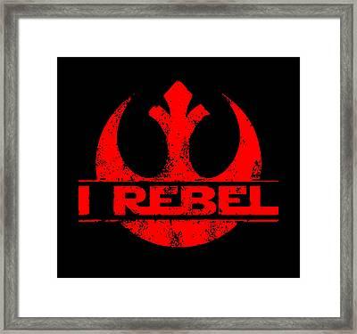 I Rebel Framed Print by Ian King