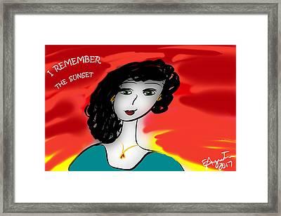 I Remember The Sunset - 2017 Framed Print by Sharon Augustin
