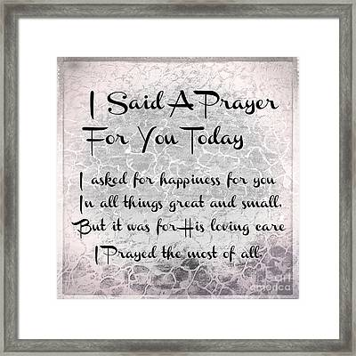 Breathtaking image with regard to i said a prayer for you today printable