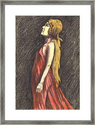 Framed Print featuring the drawing I Saw The Light by Jean Haynes