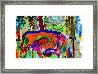 I Saw This Cow Framed Print by James Thomas