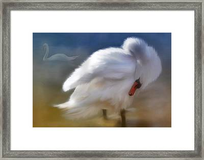 Framed Print featuring the painting I Saw You In A Dream by Elaine Manley