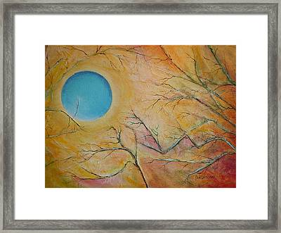 I Saw You Standing Alone Framed Print