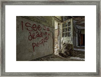 I See Dead People Framed Print by Robert Myers