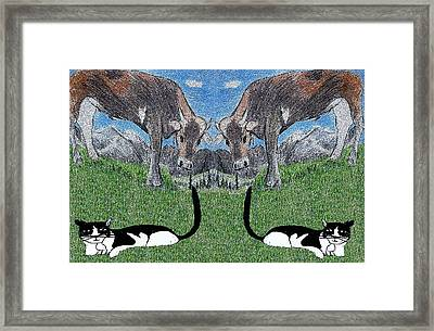 I See Double Framed Print by Monica Engeler