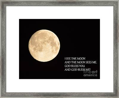 I See The Moon Framed Print by Gordon  Allen
