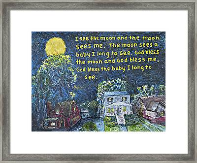 I See The Moon Framed Print by Richard Wandell