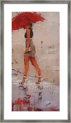 Framed Print featuring the painting I See You by Laura Lee Zanghetti