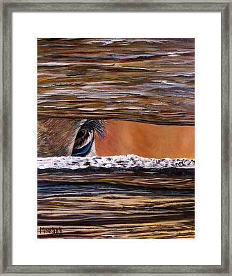 I See You Framed Print by Marilyn McNish