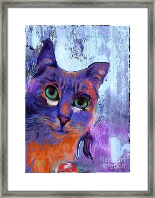 I See You Cat Framed Print