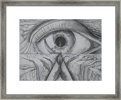 Framed Print featuring the drawing I Shadow by Charles Bates