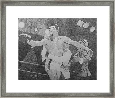 I Shook Up The World Framed Print by David Duerson