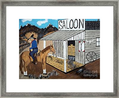 I Should Quit Drinking. Framed Print by Jeffrey Koss