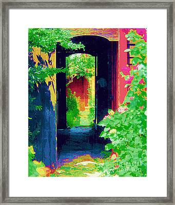 I Stand At The Door And Knock Framed Print by Diane E Berry