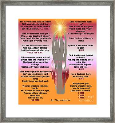 I Still Rise Framed Print
