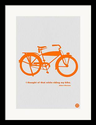 Bicyclists Framed Prints