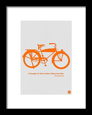 Bicyclist Framed Prints