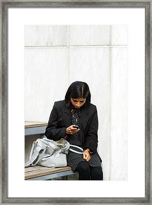 I Thought We Had Stopped Texting Framed Print by Jez C Self