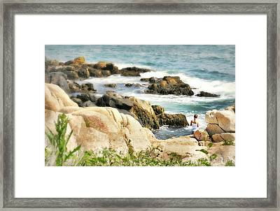 I Heart Waves Framed Print by Diana Angstadt
