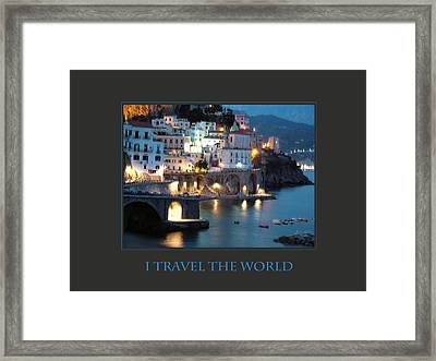 I Travel The World Amalfi Framed Print by Donna Corless