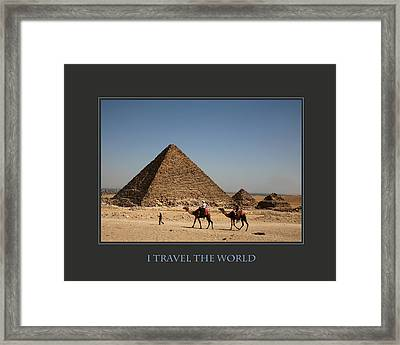 I Travel The World Cairo Framed Print by Donna Corless