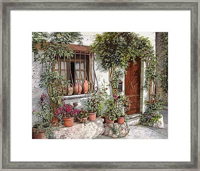 I Vasi Dietro La Grata Framed Print