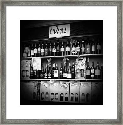 i Vini Black and White Framed Print