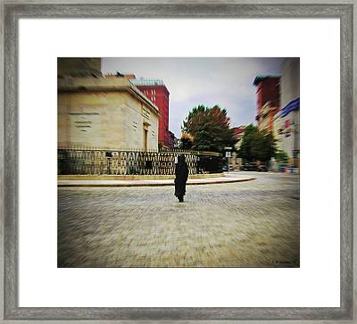 Framed Print featuring the photograph I Walk Alone by Brian Wallace