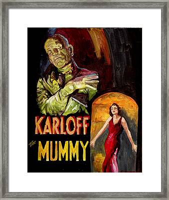 I Want My Mummy Framed Print