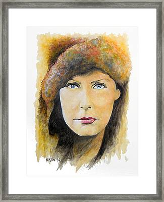 I Want To Be Alone - Garbo Framed Print by William Walts