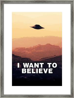 I Want To Believe By Raphael Terra Framed Print by Raphael Terra